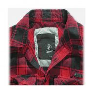 CAMISA CUADROS RED-BLACK BRANDIT