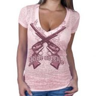 CAMISETA PISTOLAS ROSA HOT LEATHERS