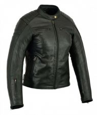 CHAQUETA CAFE RACER PIEL NEVADA BLACK