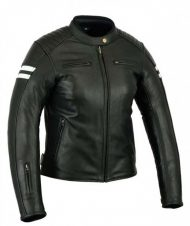 CHAQUETA CAFE RACER PIEL NEVADA BLACK & WHITE